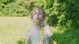 Buborék pillangó pálca NAGY (40cm)