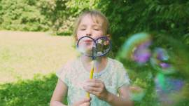 Buborék pillangó pálca KICSI (20cm)